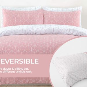 AirComfort Eco Breathable Cotton Blend Multi Design Bedding Set Duvet Cover With Pillowcases